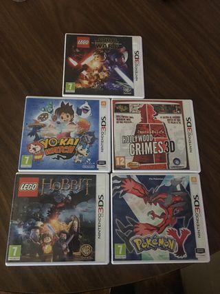 Cinco juegos Nintendo 3 DS XL