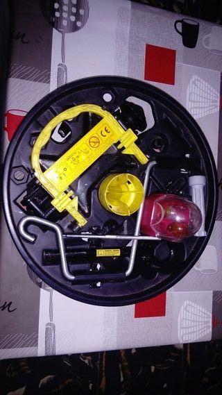conjunto para câmbio de ruedas y bombillas