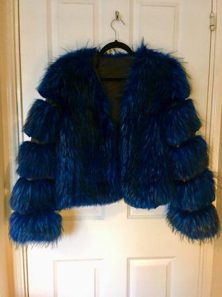 Fluffy blue jacket