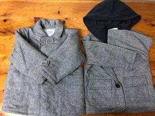 Abrigo y chaqueta felpa caribu
