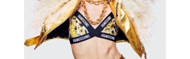 H&M Moschino Gold Chain Bra size 6.