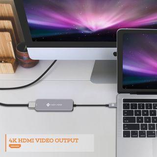 NUEVO.Hub USB Tipo C 2xUSB3.0 HDMI Lector Tarjetas