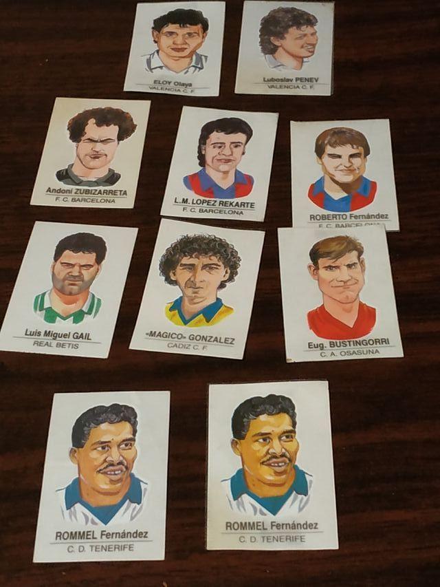 Pegatinas bollycao de caricaturas de futbolistas