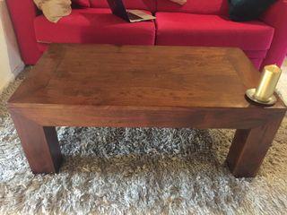 2 mesas: de centro y de TV - madera palisandro