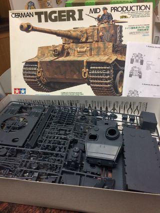 Maqueta de tanque alemán Tiger I.
