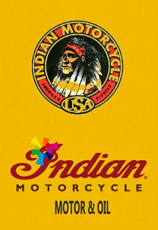 Cartel Motos Indian (exclusivo)