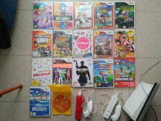 pack Nintendo Wii + 17 juegos