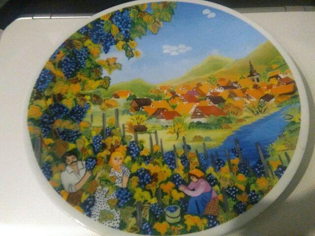Plato decorativo porcelana francesa de Limoges