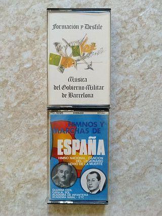 Cassettes himnos militares