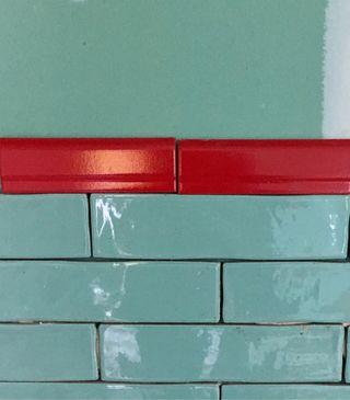 Azulejo remate rojo 20 x 6,5