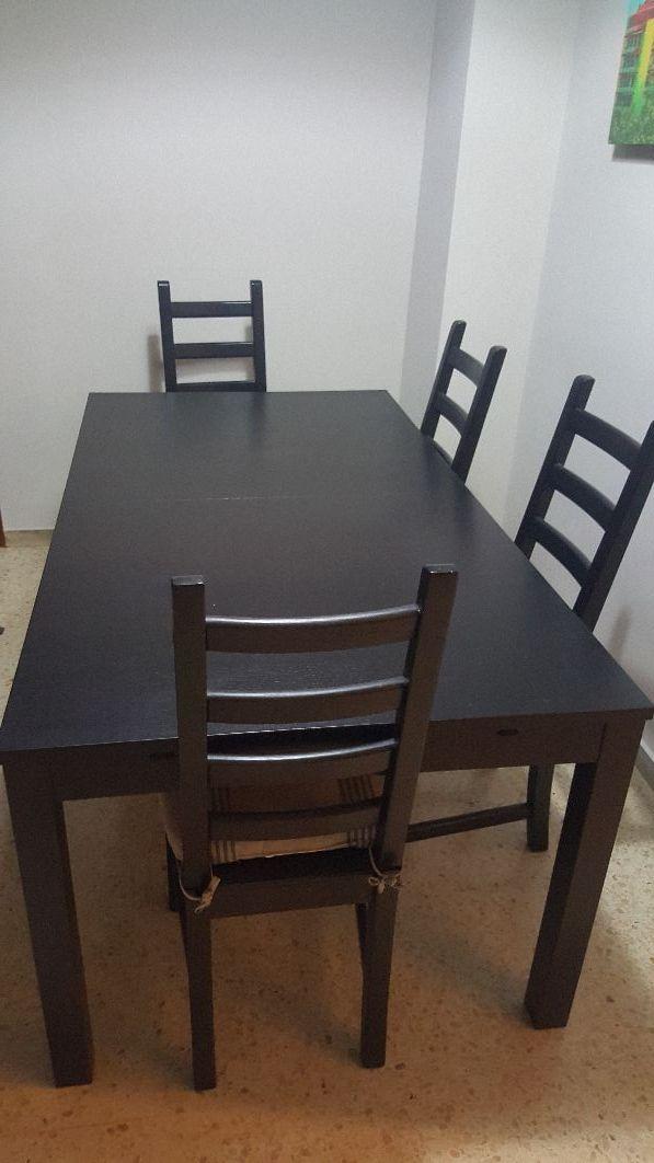 Mesa comedor grande negra de segunda mano por 150 € en Barcelona en ...