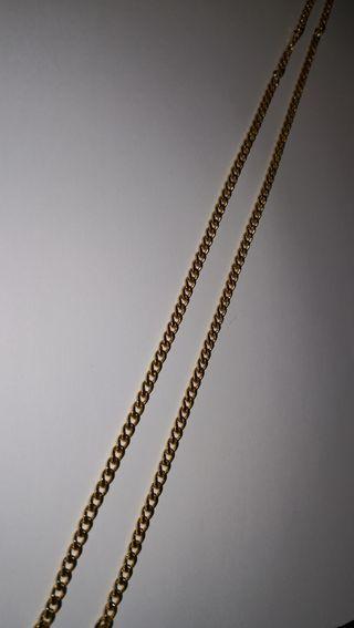 Cadena chapada ORO 60 cm