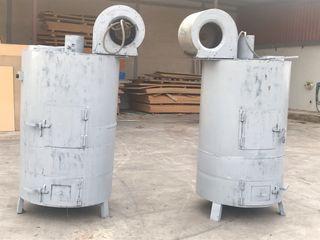 2 Estufas de leña industriales