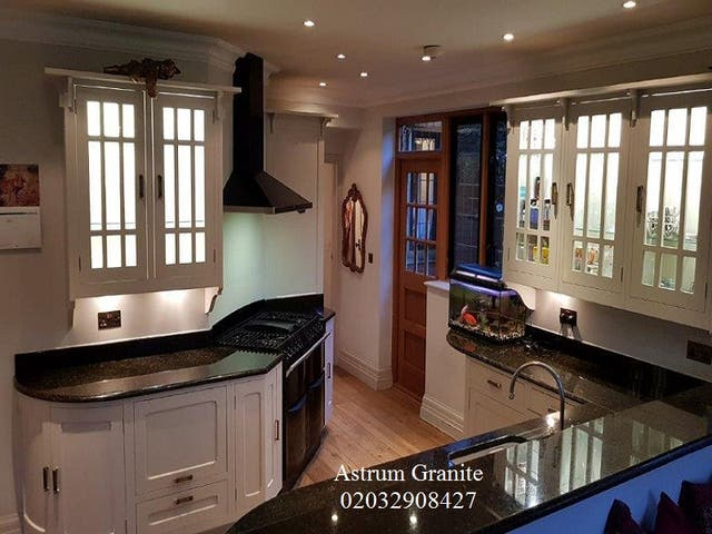 Top Quality Agatha Black Granite Kitchen Worktop