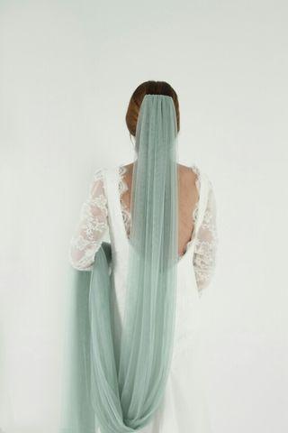 Velo de novia verde- producto nuevo