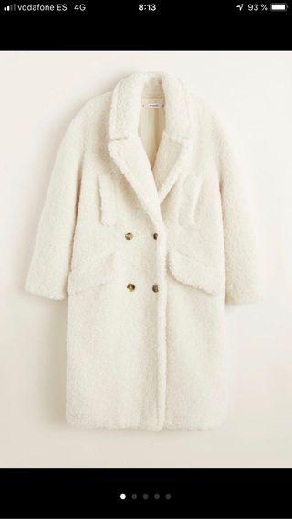Abrigo borreguito blanco mango agotadisimo