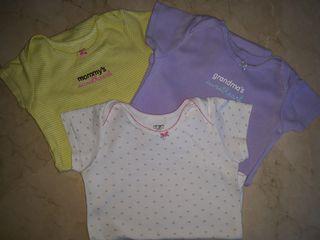lote 3 Bodies 100% algodón 24 meses