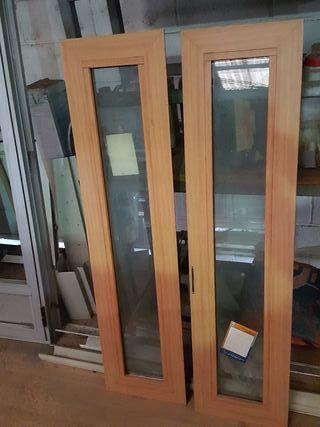 Ventanas aluminio color madera de segunda mano por 325 for Ventanas aluminio color titanio