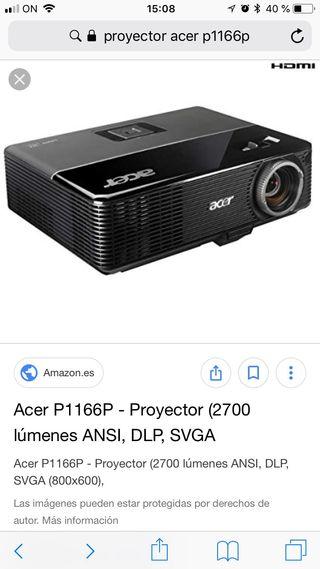 Proyector acer p1166 más pantalla electrónica