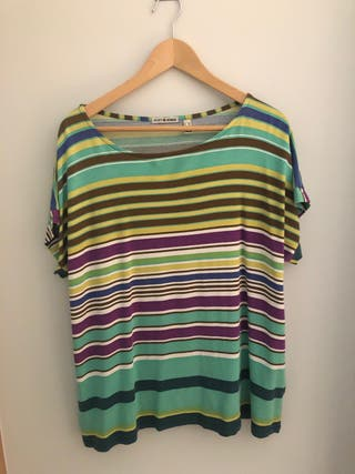 Camiseta Punto Roma de franjas horizontales de segunda mano