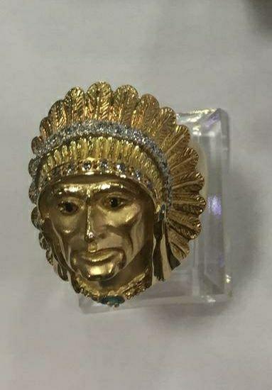 anillo cabeza jefe indio