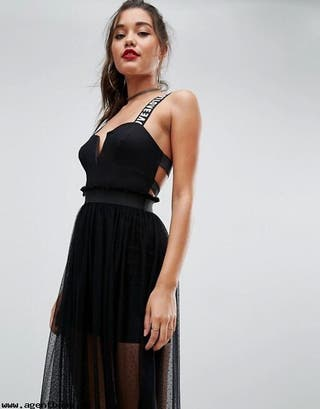 Collection 60 Mano De Vestido Negro Asos Por Segunda ETPqf6