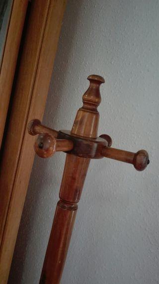perchero rustico madera antiguo vintage
