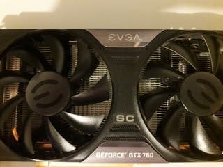 Tarjeta Gráfica EVGA Superclocked GTX 760 2 GB