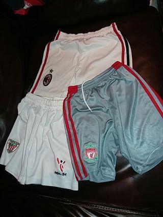 lote pantalon futbol milan liverpool y athletic