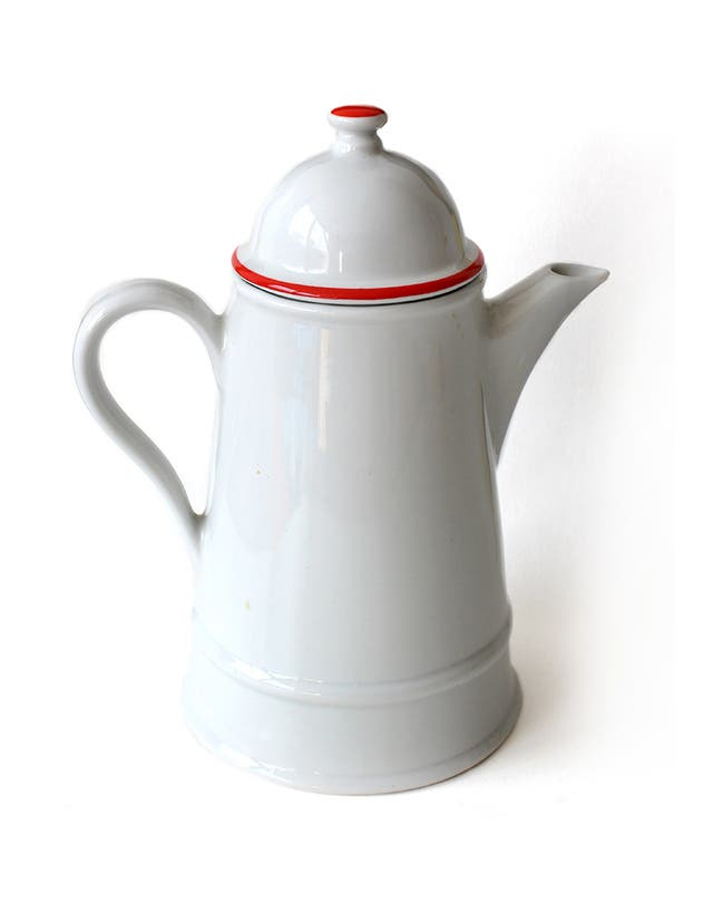Tetera cafetera vintage, de porcelana. Herrandiz.