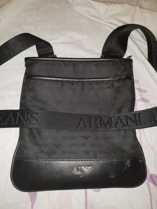 black Armani man bag pouch
