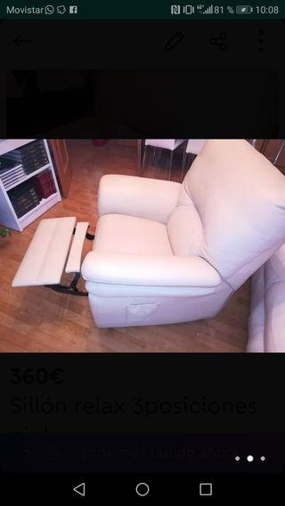 sillón relax piel