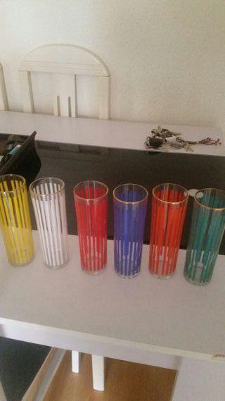 vasos tubo vintage