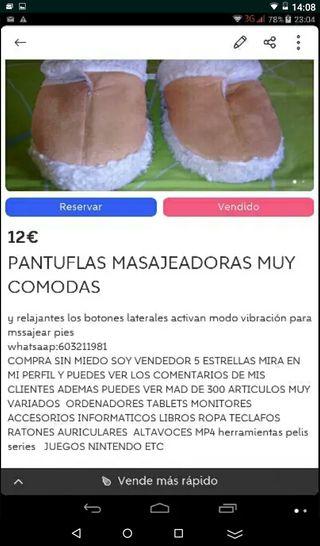 PANTUFLAS MASAJEADORAS funciona a pila