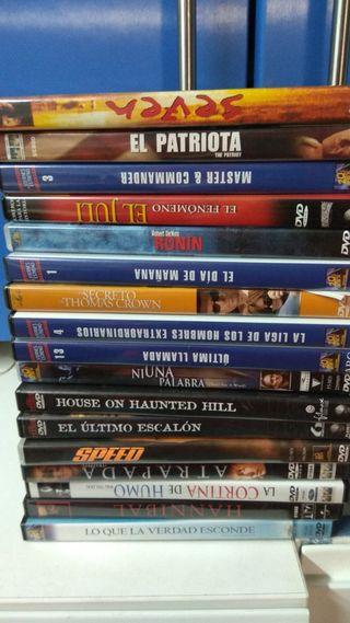Películas variadas en DVD