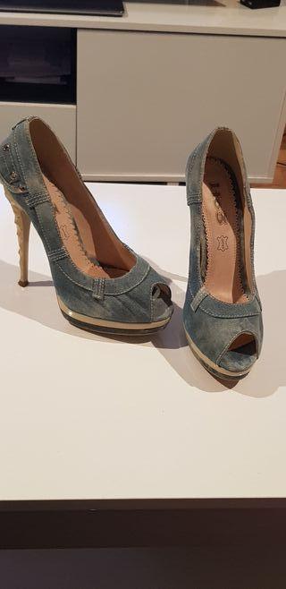 zapatos de tacón de segunda mano en ourense en wallapop