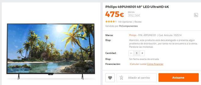 """Philips 49"""" TV"""