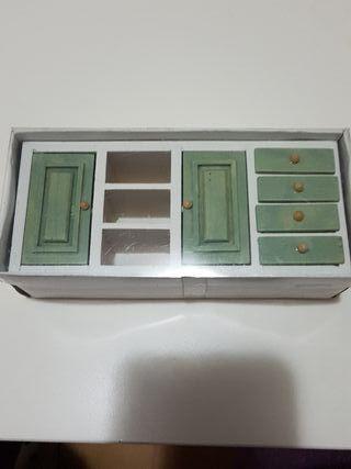 Mueble de cocina para casa de muñecas.