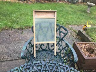 Victorian wooden laundry wash scrub board