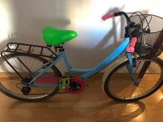 Bicicleta paseo multicolor