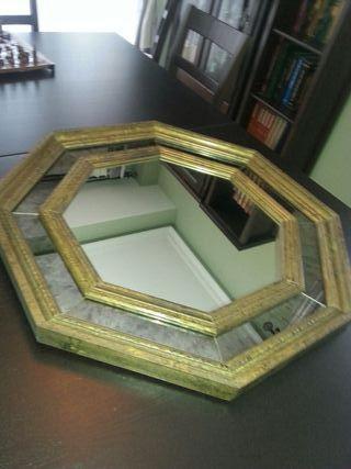 Espejo veneciano antiguo de segunda mano por 35 en - Espejo veneciano antiguo ...