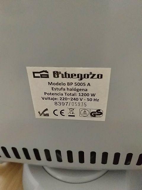 estufa halógena