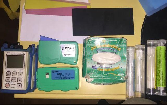 Medidor fibra optica y accesorios