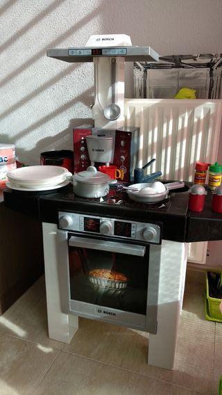 cocina , carro , cesta , registradora y utensilios