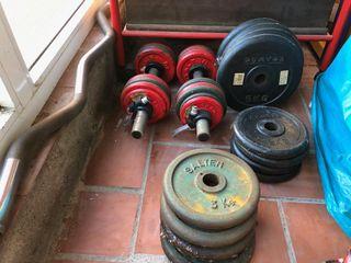 Lote de pesas discos