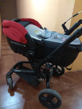 Carrito bebe Jane Rider Capazo, silla y maxicosi
