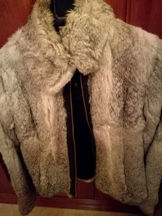 chaqueta de pelo de conejo