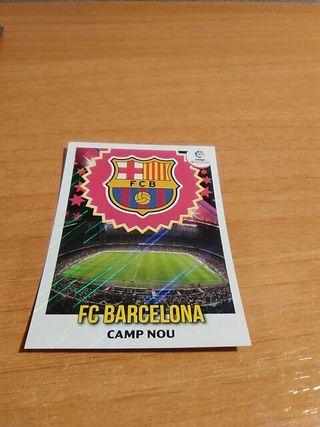 Cromo Liga Este Escudo FC Barcelona 2018/19.