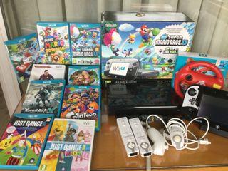 Wii U pack + Wii accesorios + Juegos