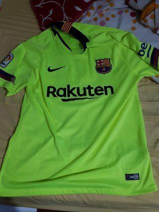 """Camiseta Del Barcelona """"Con parche Y nombre Messi"""""""